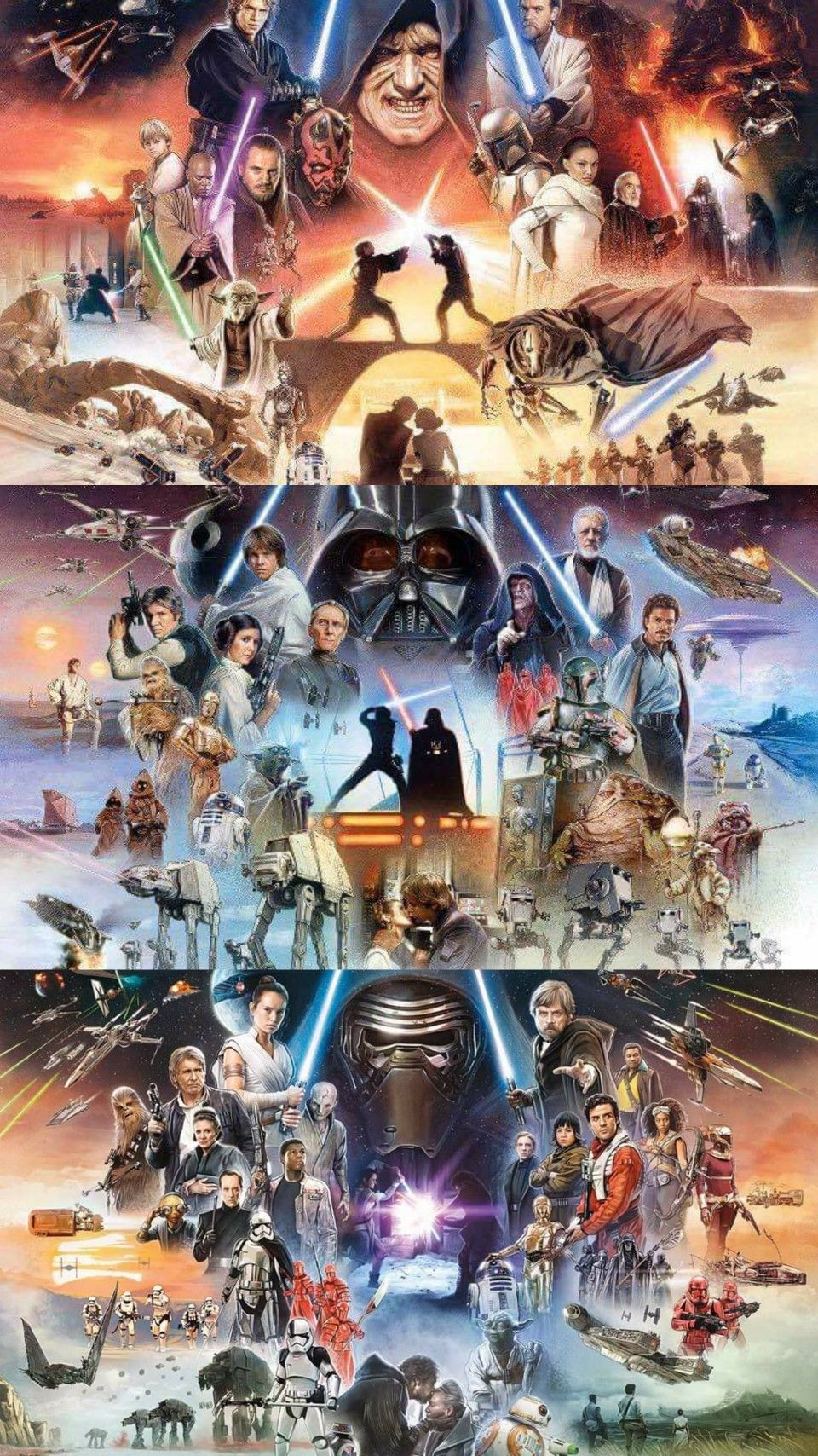 The Original Trilogy The Prequel Trilogy The Sequel Trilogy The Star Wars S Star Wars Poster Ideas Of In 2020 Star Wars Art Star Wars Poster Star Wars Wallpaper