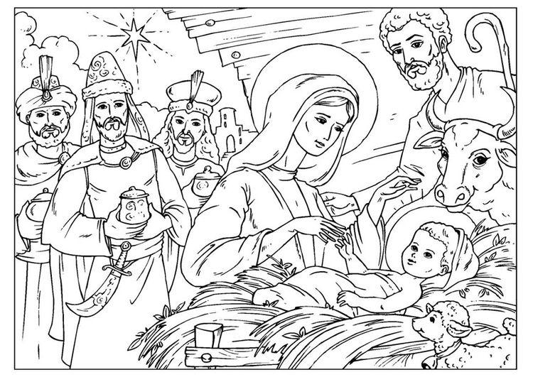 Pagina Para Colorir O Nascimento De Jesus Desenhos Para Colorir