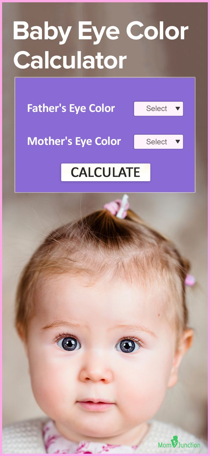 Baby Eye Color Calculator Chart And Predictor Baby Eyes Baby