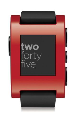 Pebble Smart Watch For Iphone And Android Devices Red Pebble Technology Corp Http Www Amazon Com Dp B Watch For Iphone Pebble Smartwatch Smart Watch Iphone