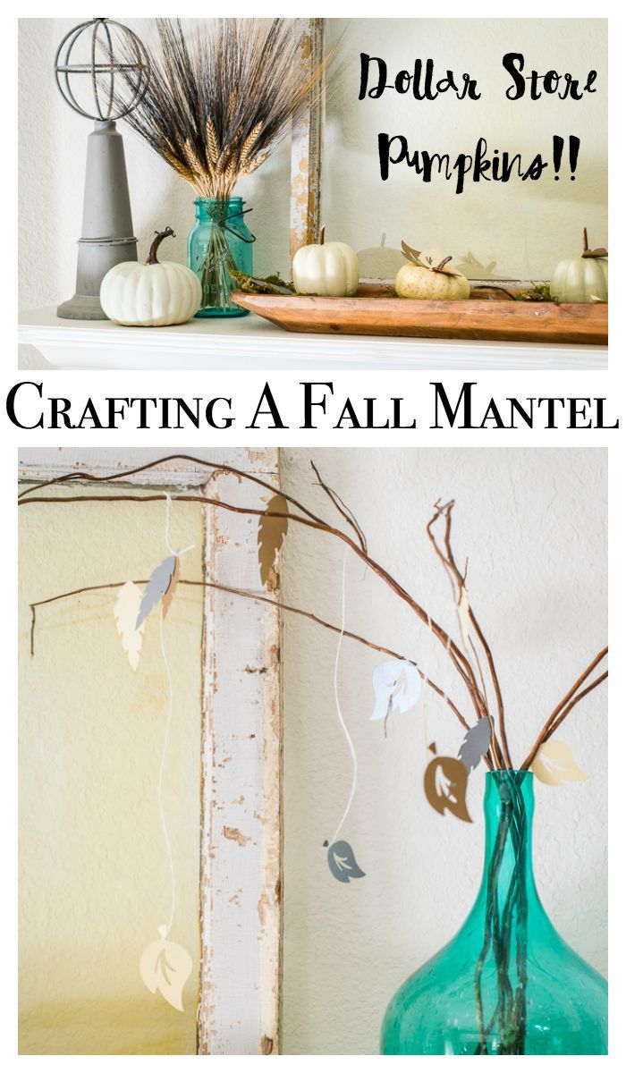 Fall craft ideas for a mantel or any area of your home. Features ...