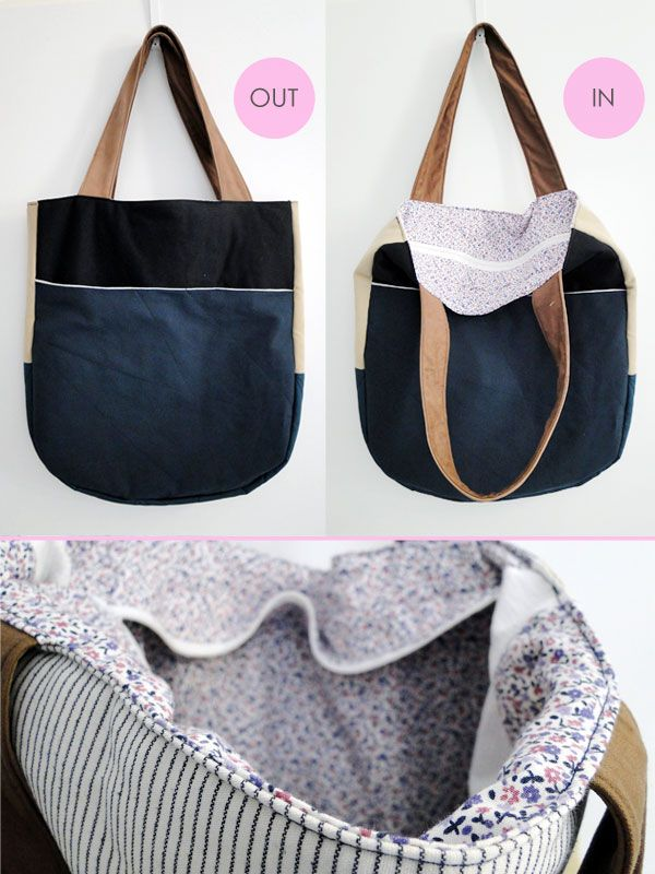 // DIY Rounded Tote Bag