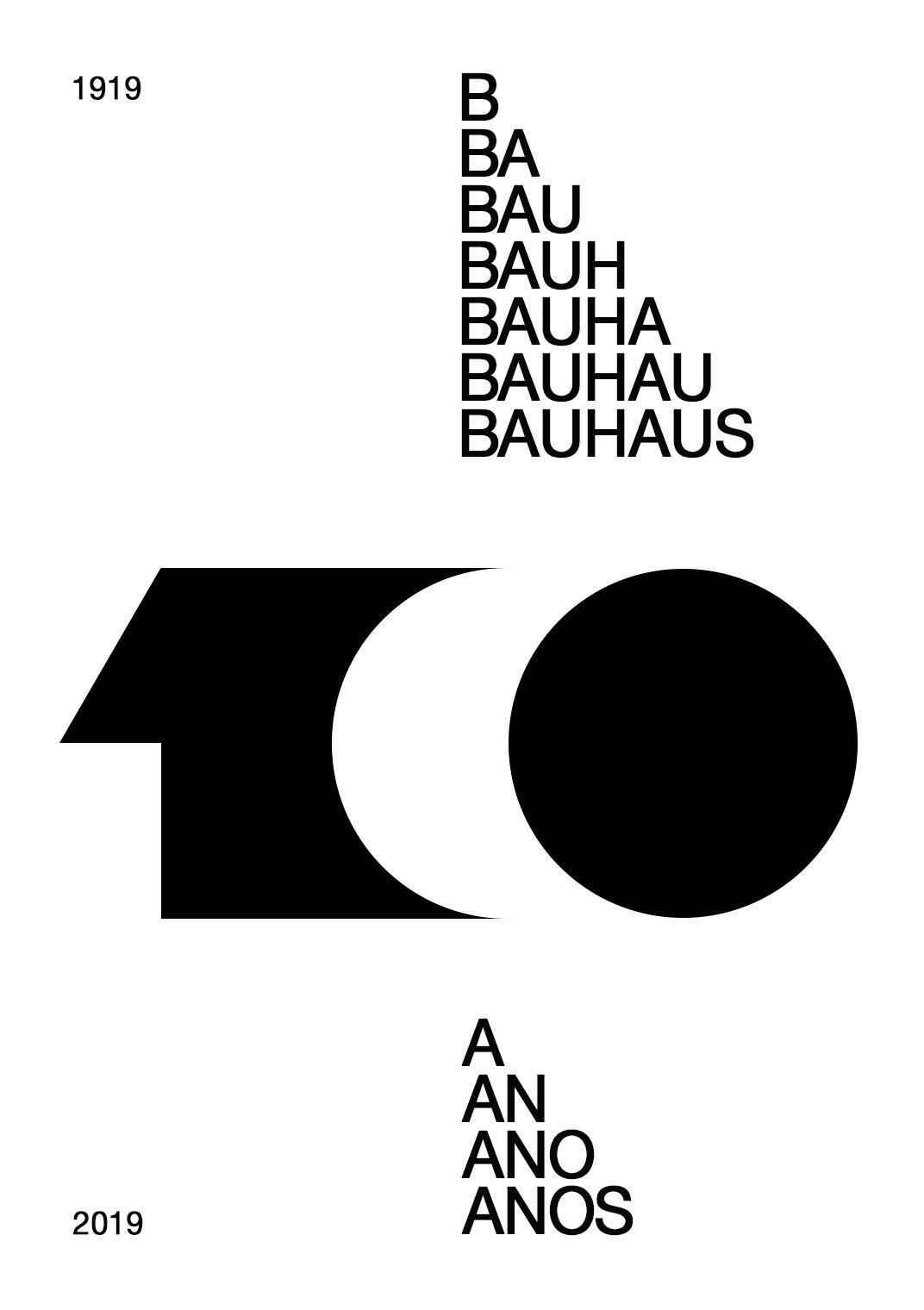 Bauhaus 100 anos Poster, Design gráfico