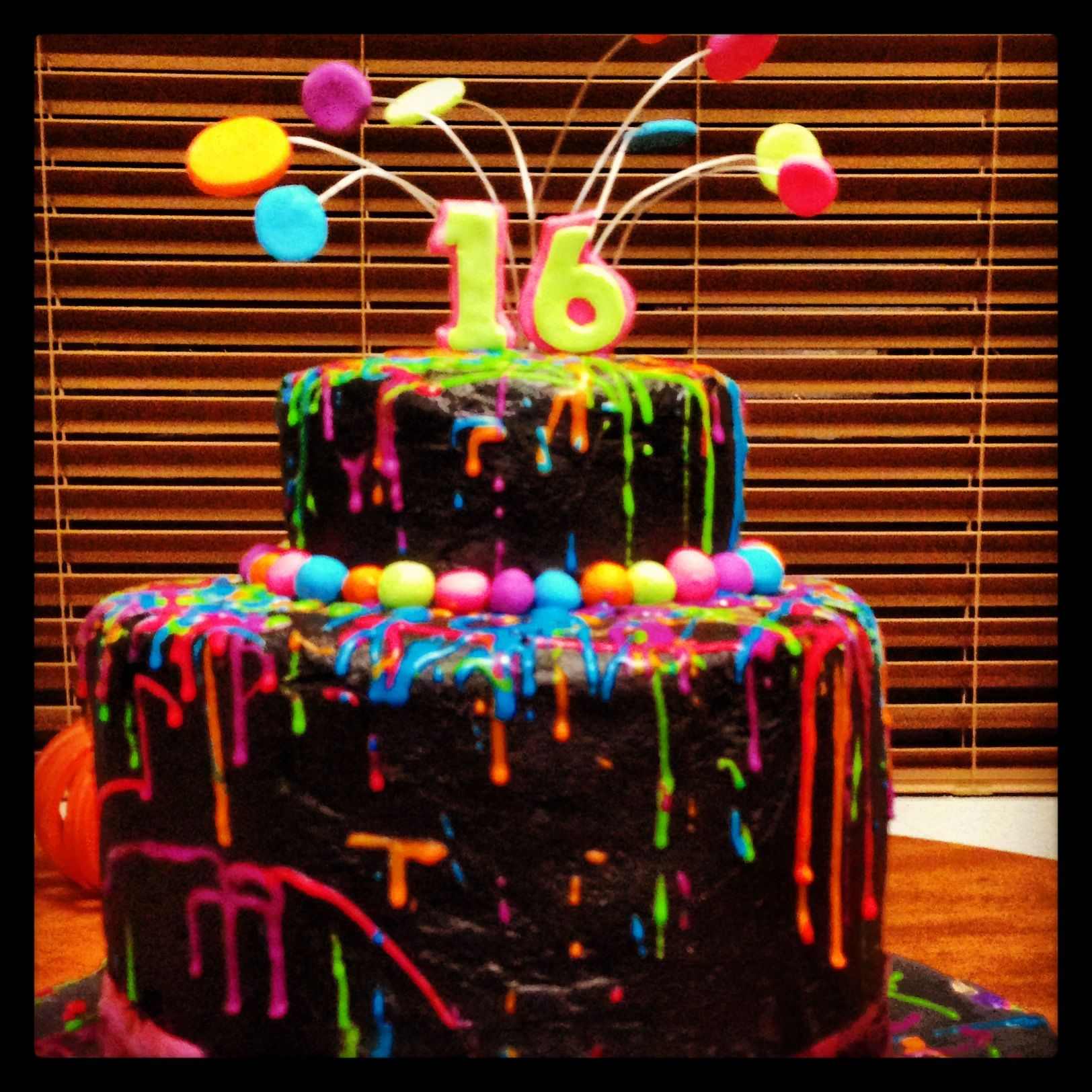 Calen And Melissa S 16 Th Birthday Cake My Cakes 16th