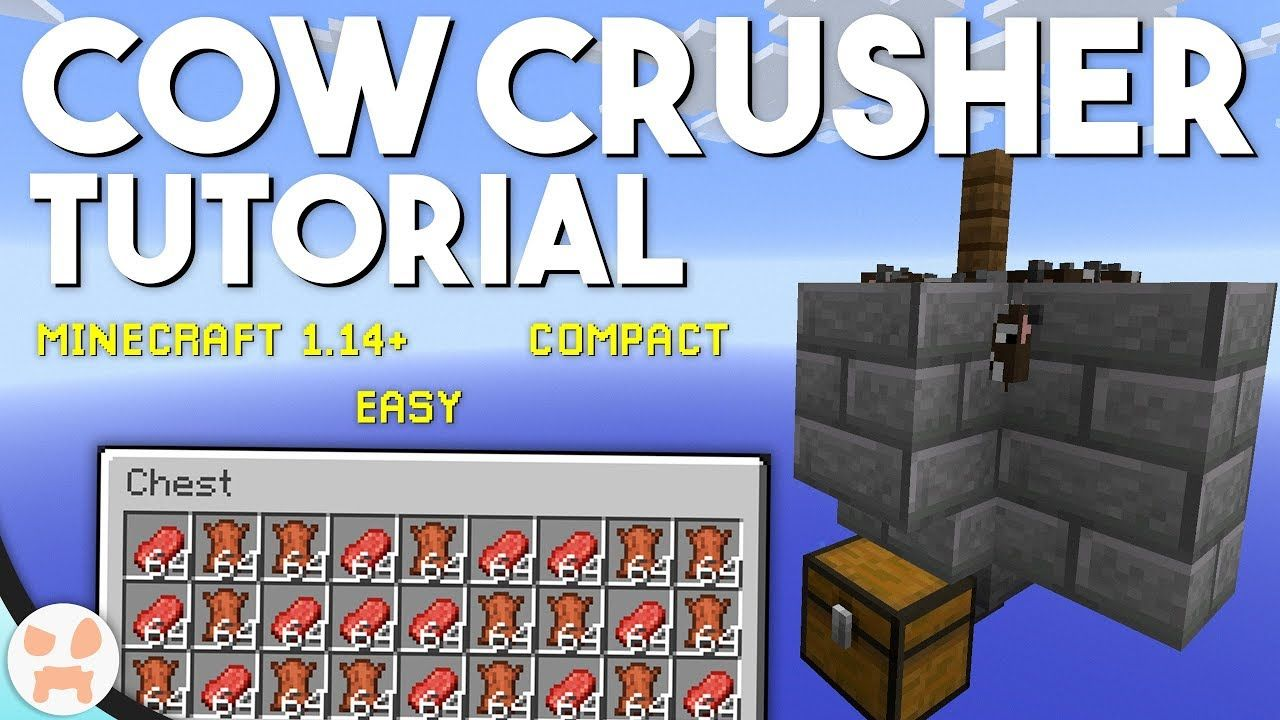 Minecraft Automatic Cow Farm And Cooker
