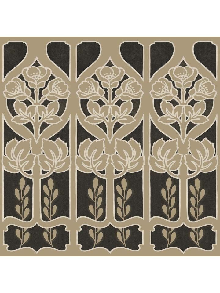 Shand Kydd Pattern Name PENRITH BORDER BLACK/NICKEL