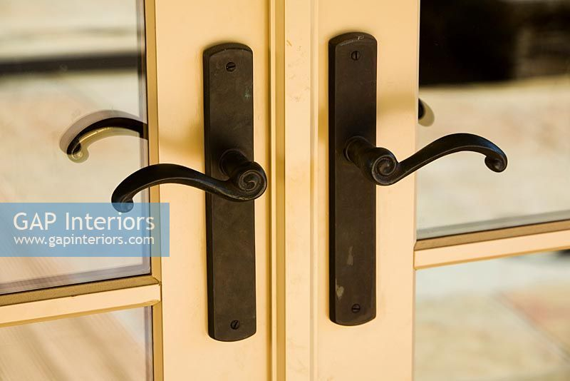 Pin By Adam Kranz On Extension Reno French Doors Interior Wall Sconces Iron Handles