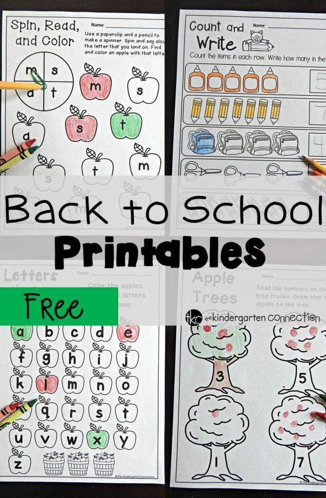 Back To School Printables Pre School School And Pre School Printables