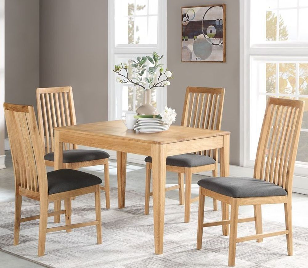Dunmore Oak Dining Table And 4 Chairs Oak Dining Sets Oak