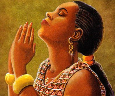 Image result for picture of a black women praying