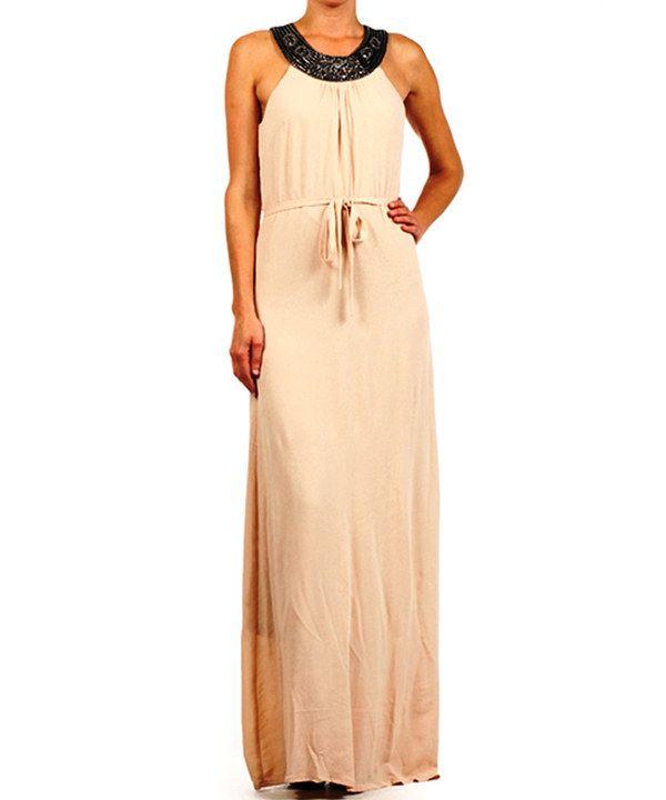 Look at this Karen T. Design Peach Drawstring Maxi Dress - Women on #zulily today!