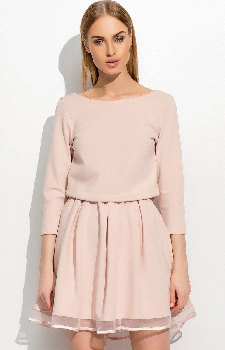 15545e03 Rozkloszowana sukienka z tiulem 2179-11N | SUKIENKI moda 2016 ...