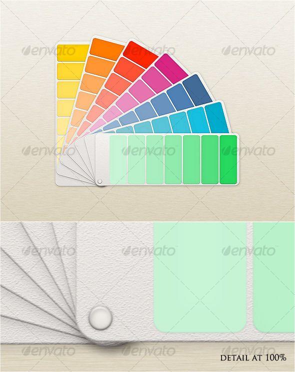 Fan Color Chart MockUp Colour Chart Mockup And Logos