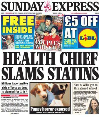 The cholesterol-lowering statin drug empire continues to crumble. This past Sunday (February 15, 2015) the Sunday Express in the UK published a headline story stating that Oxford professor Dr. Rory Collins, whose research had been used to support putting millions of patients on statin drugs, was reassessing the data behind those studies for possible drug side effects.  According to the Express: