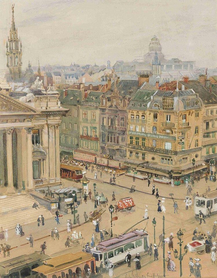 Robert Emil Stübner - Boulevard Anspach, Brussels, 1918