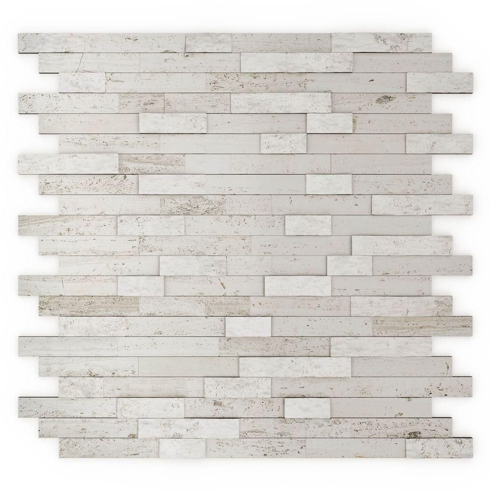 Inoxia SpeedTiles Himalayan 11.75 in. x 11.6 in. Stone Adhesive Wall ...