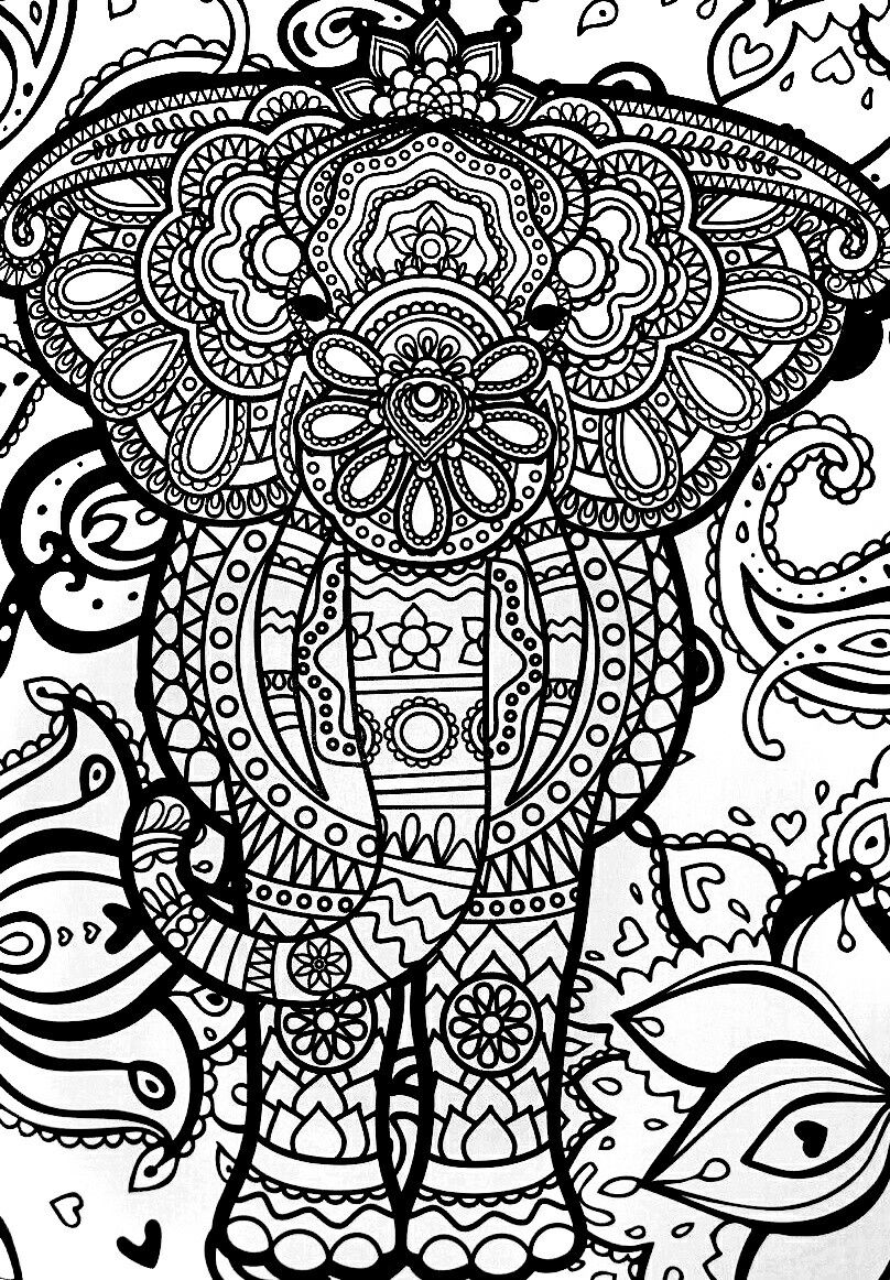 Fantastic elephant coloring sheet | Elephants Coloring Book ...