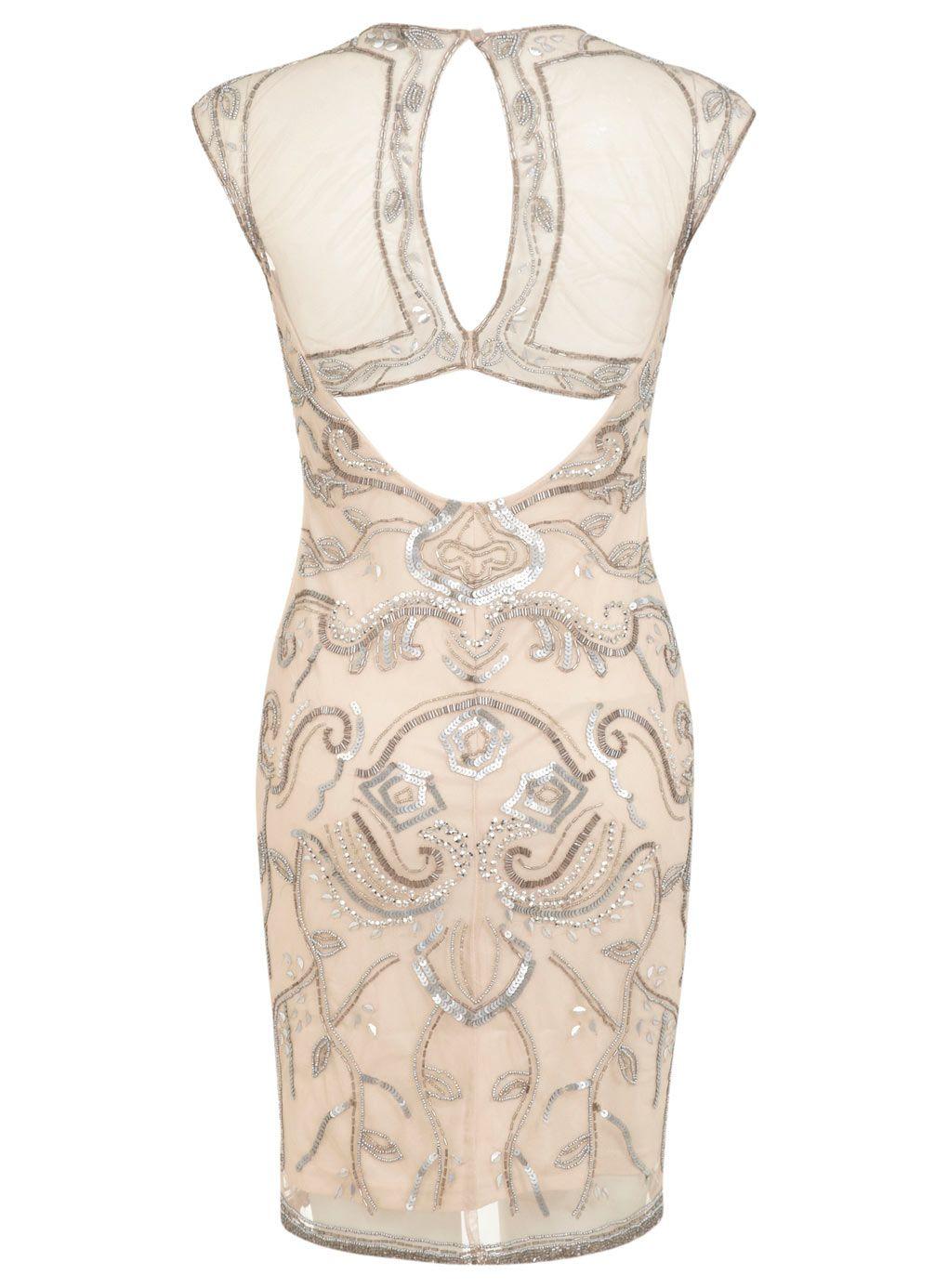 Miss selfridge stud sequin maxi dress