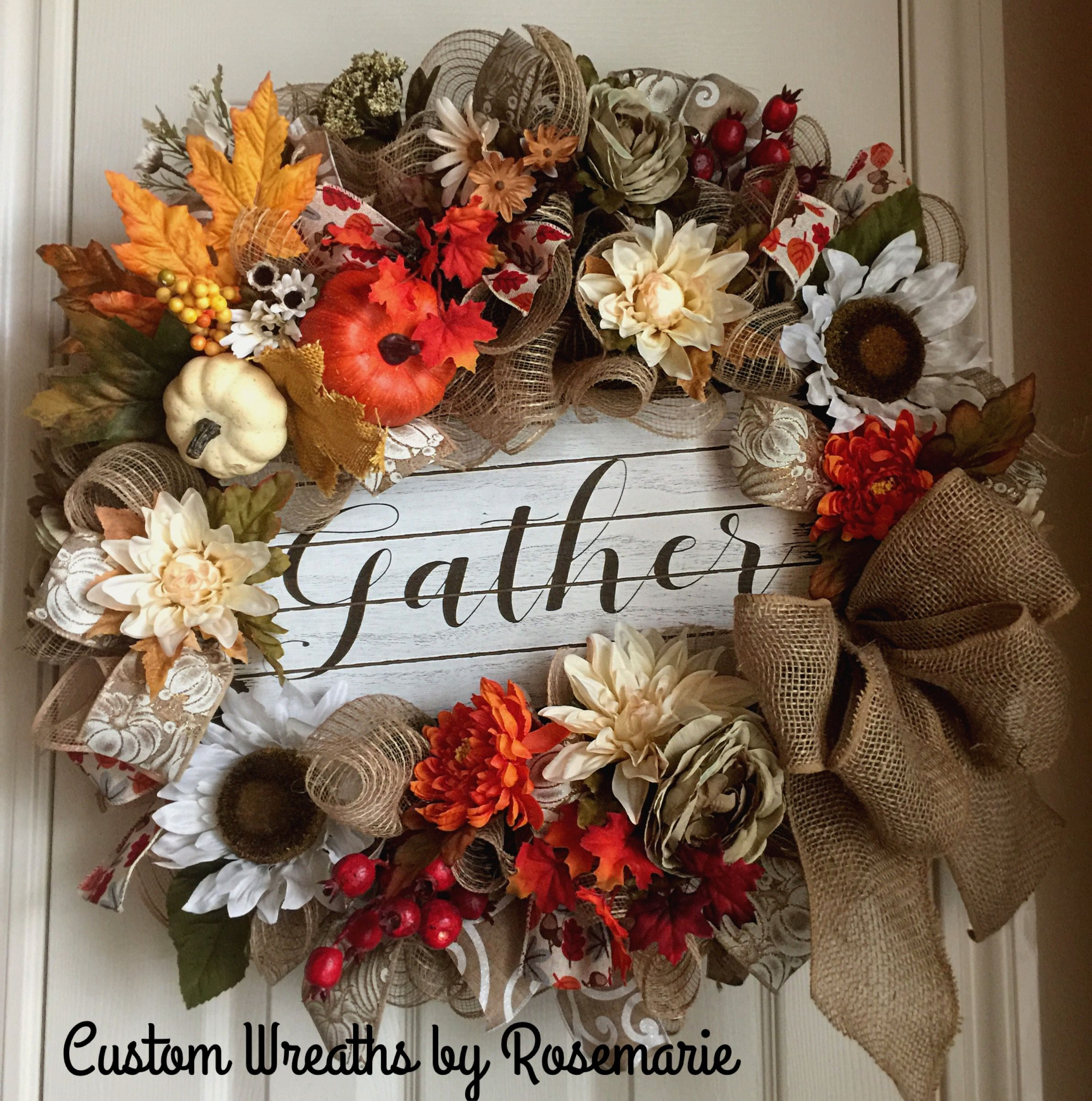 Burlap Wreaths, Fall Wreaths, Thanksgiving Wreaths, Trendy Tree, Fall  Things, Wall Pockets, Fall Decorations, Holiday Decorating, Pumpkins,  Christmas