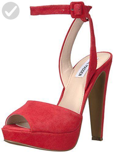 38c4f824e5aec Steve Madden Women's Amber Dress Sandal, Red Suede, 5.5 M US - All ...
