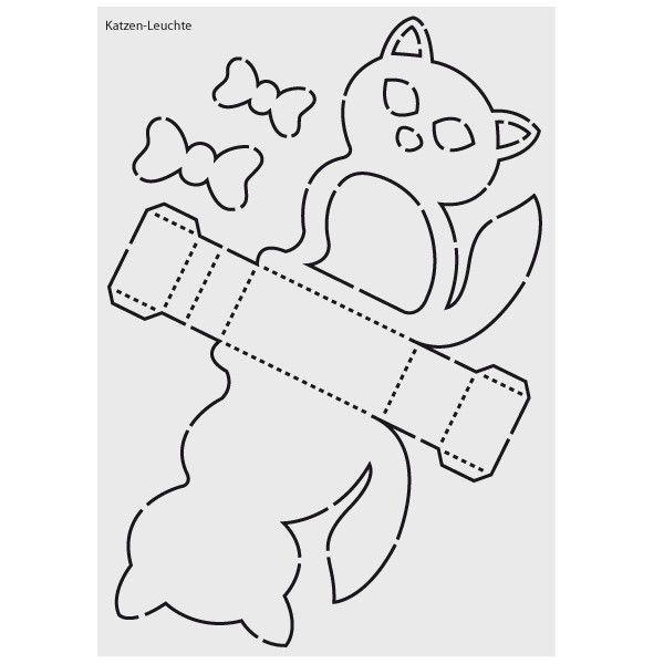 Design Schablone Nr 3 Katzen Leuchte Din A4 Laterne Basteln Vorlagen Schablonen Laternen Basteln