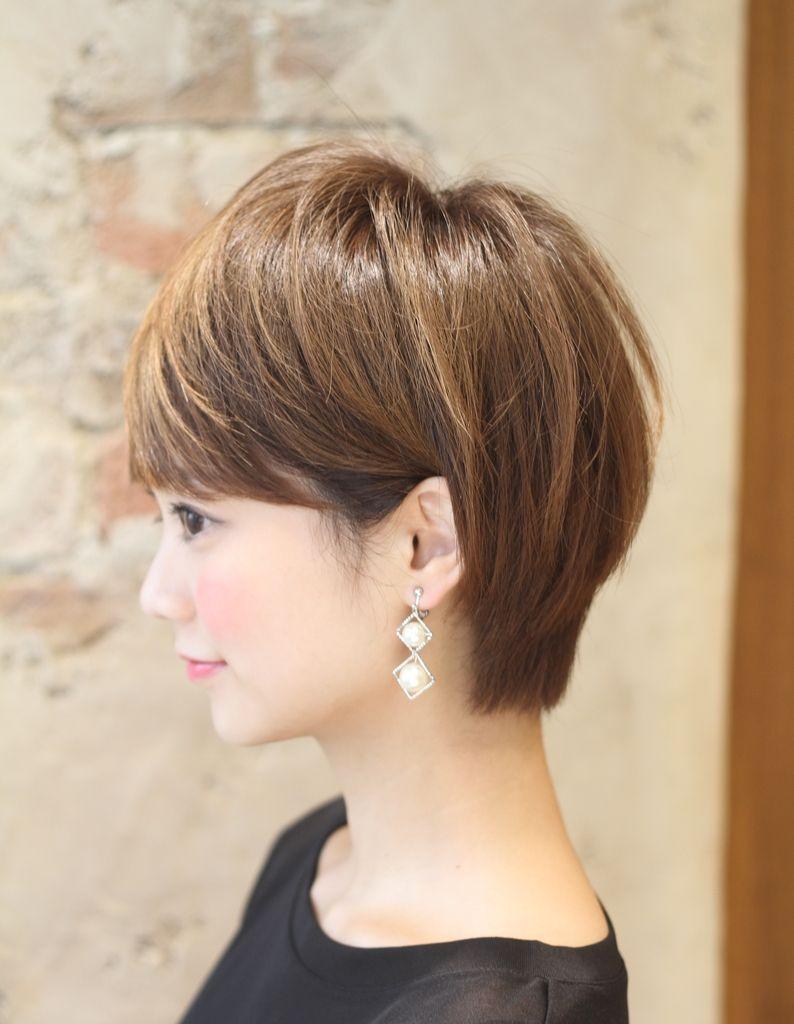ミセス 大人の耳掛けショートヘア Ke 487 ヘアカタログ 髪型
