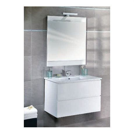 Meuble de salle de bains suspendu disco 60cm 99 meuble - Meuble de salle de bain mural ...