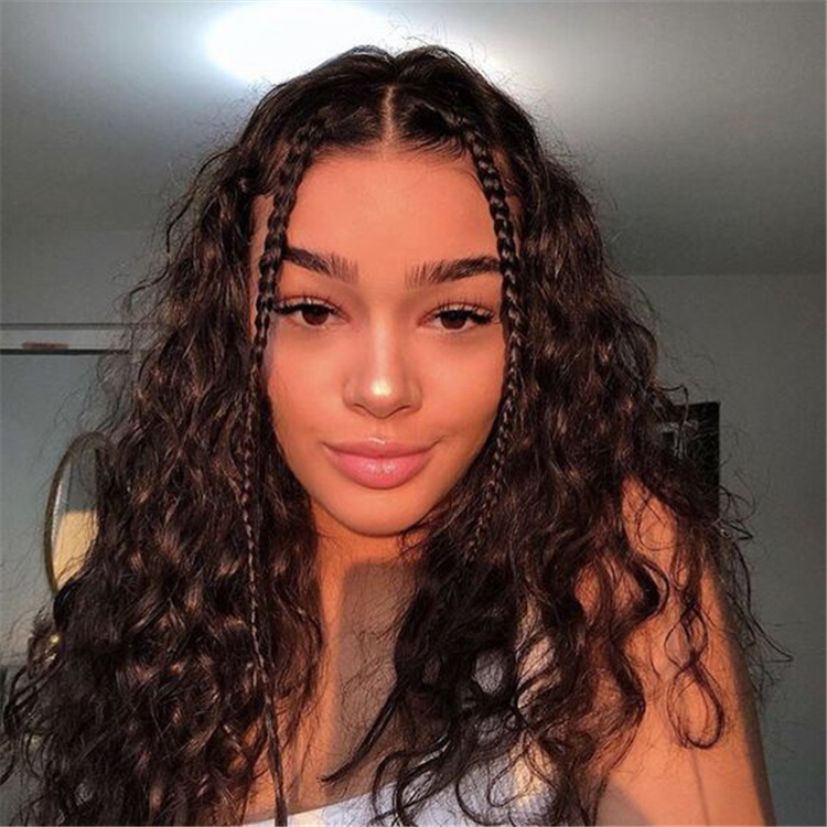 Cute And Pretty Curly Hairstyles To Look Stylish In 2020 Page 10 Of 44 Cute Hostess For Modern Women In 2020 Curly Hair Styles Hair Styles Thick Hair Styles
