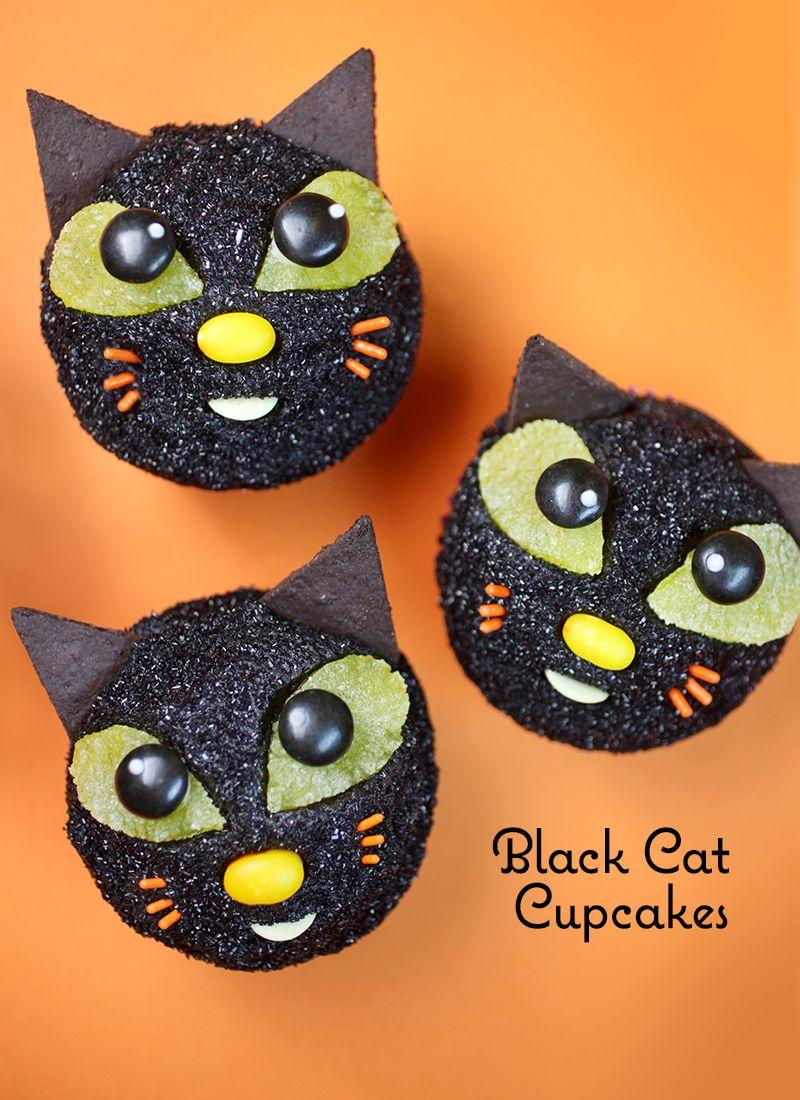 Black Cat Cupcakes Black Cat Cupcakes Cat Cupcakes Halloween Cakes