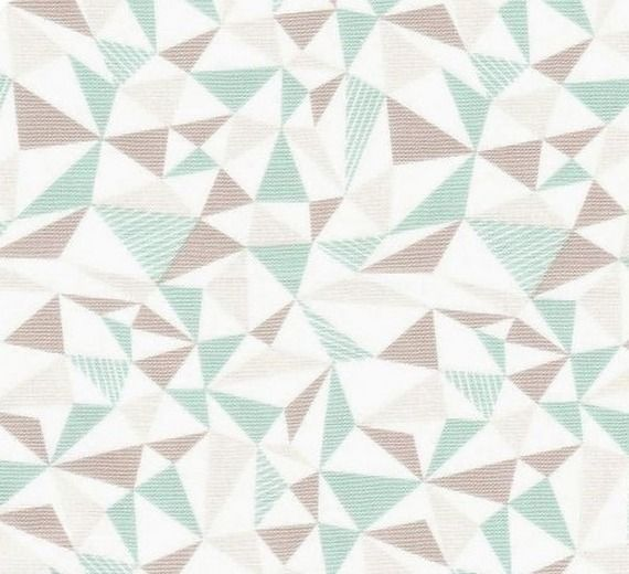 Coupon de tissu pour loisirs cr atifs et patchwork motif g om trique triangles vert d 39 eau - Chambre vert deau et beige ...