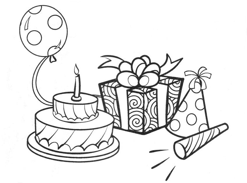 Charmant Birthday Colouring Pages   Google Search