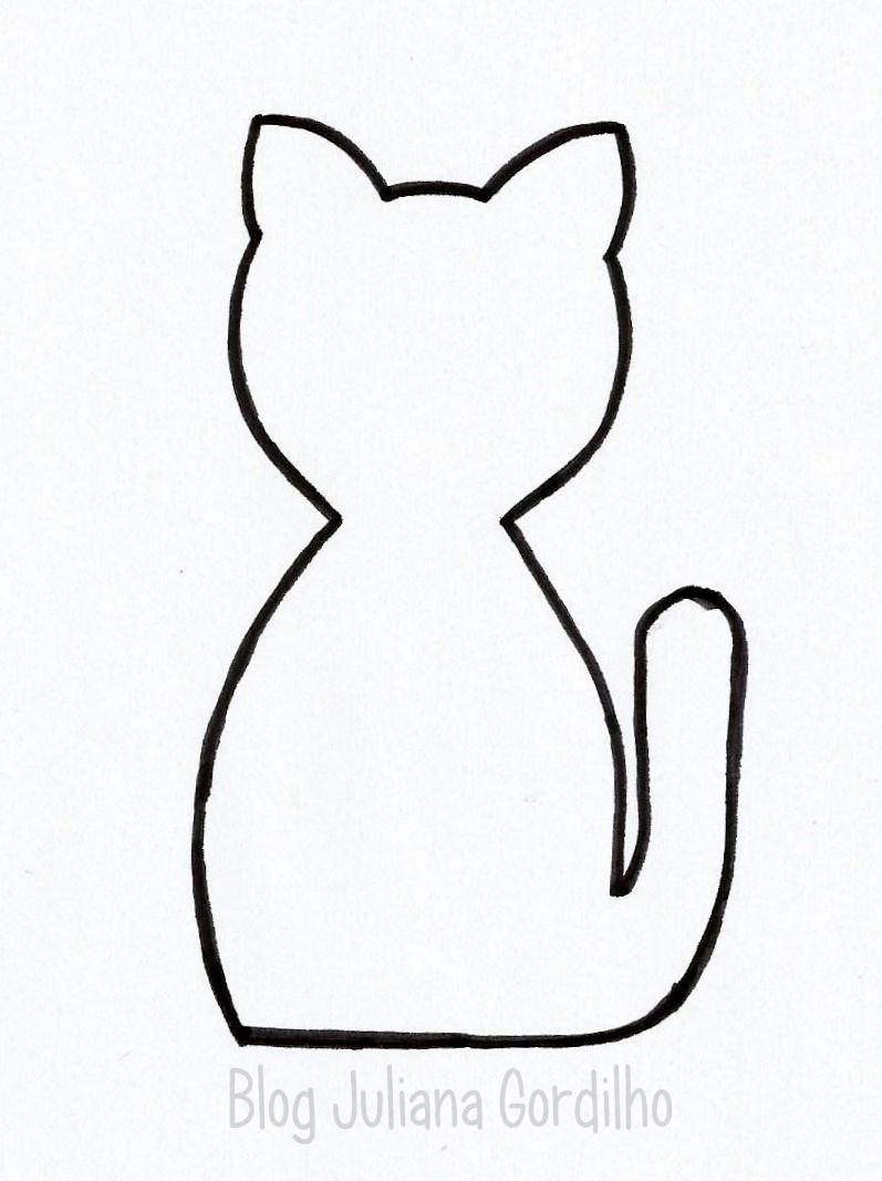 Resultado de imagem para molde feltro para gatos | RISCOS BORDAR ...