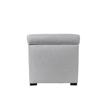 MJLFurniture Sachi Mini Sole Secret Shoe Storage Ottoman Upholstery Color: Silver