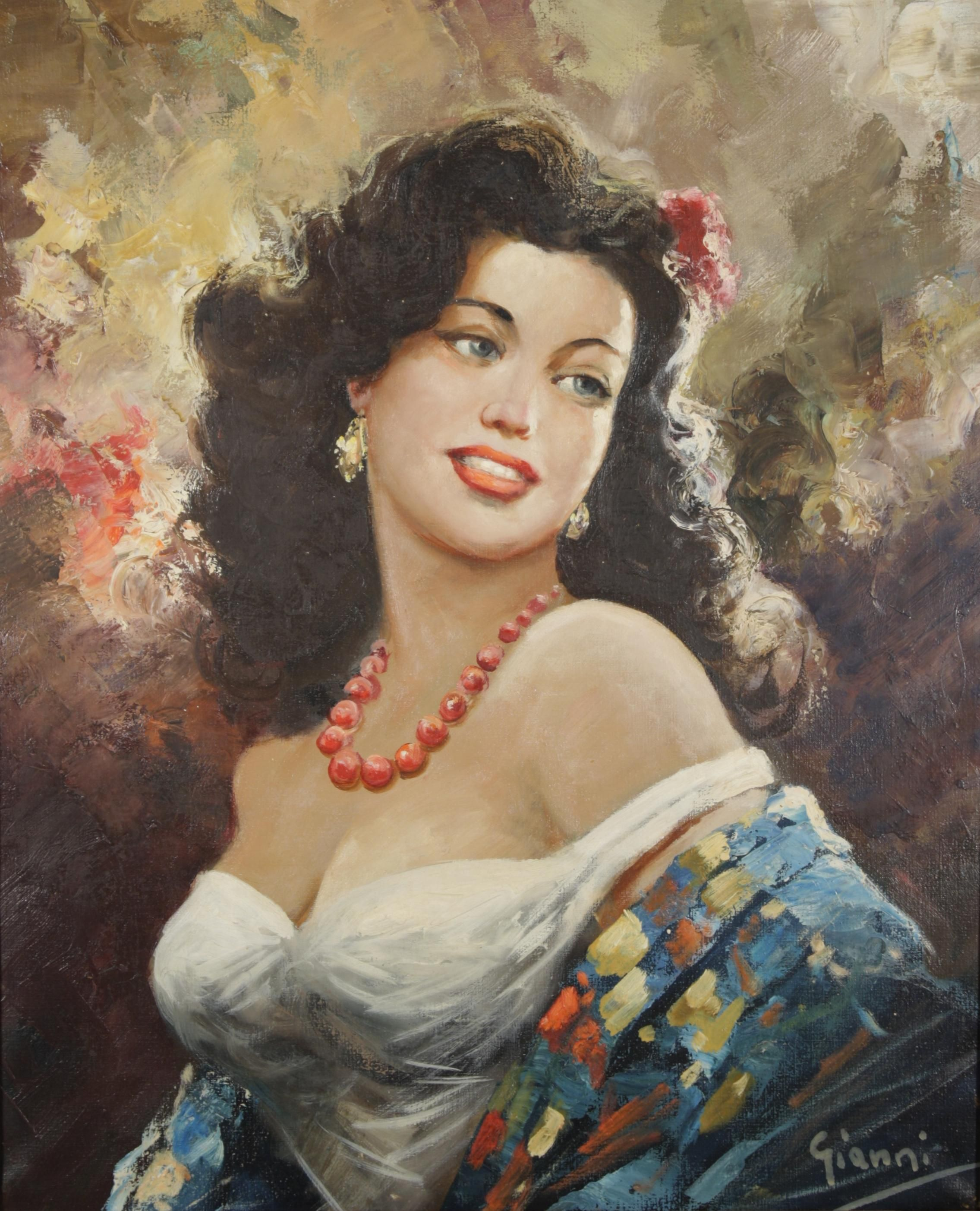 gianni portrait of a woman oil on canvas Η Γ�ναίκα