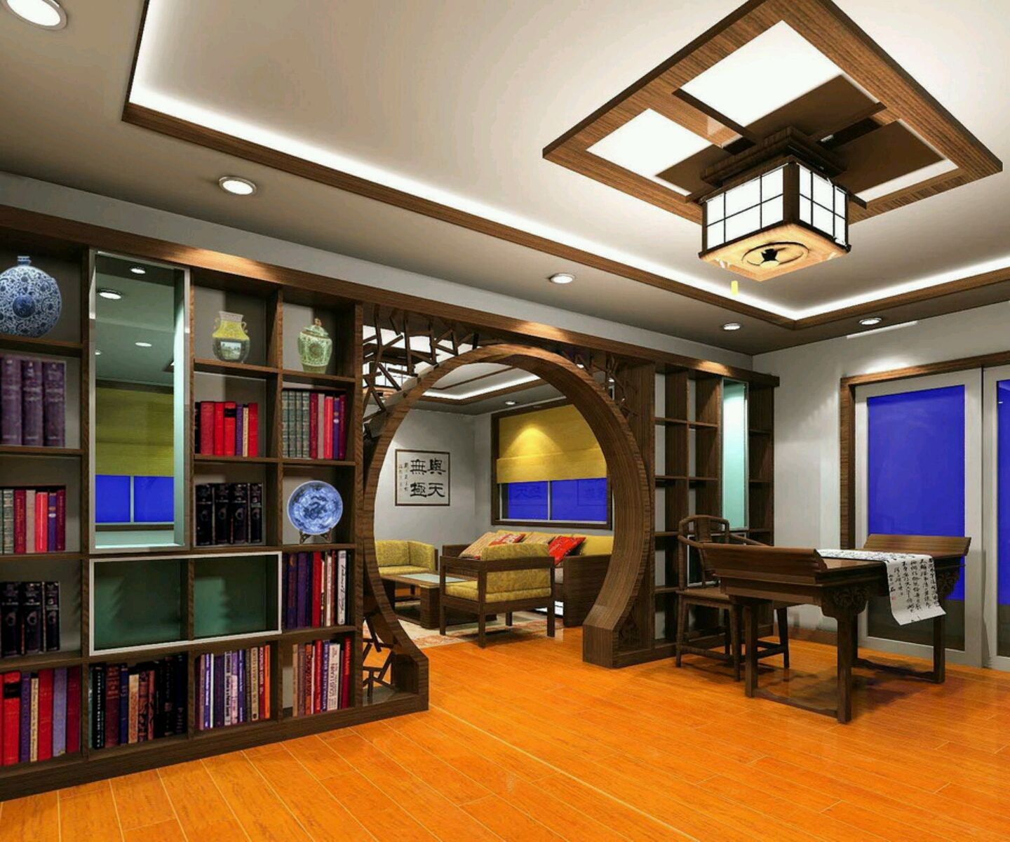 Study design ideas modern study room furnitures designs for Interior designs study room