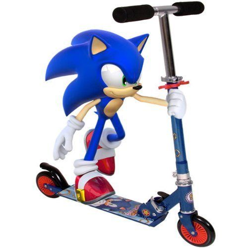 Awesome Sonic The Hedgehog Kids Inline Scooter Blue And Red Sonic Party Sonic The Hedgehog Sonic
