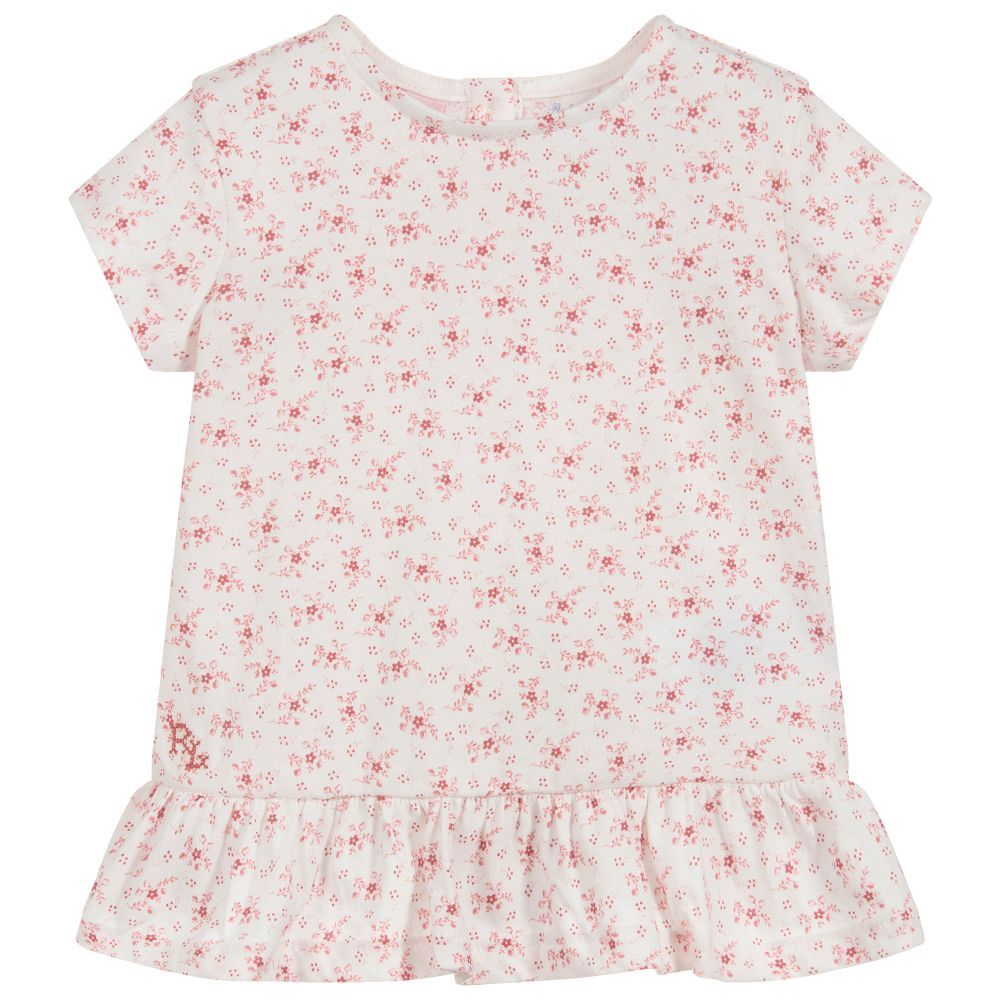 competitive price 5bcfa 988a7 Girls Red Ditsy Cotton Top | Baby girl