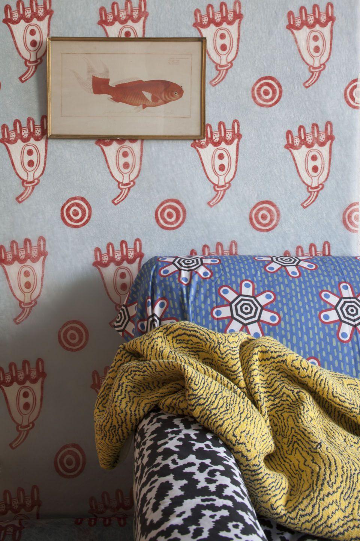 Textiles Memphis Couleur Interieure Decoration Et Au Fil Des