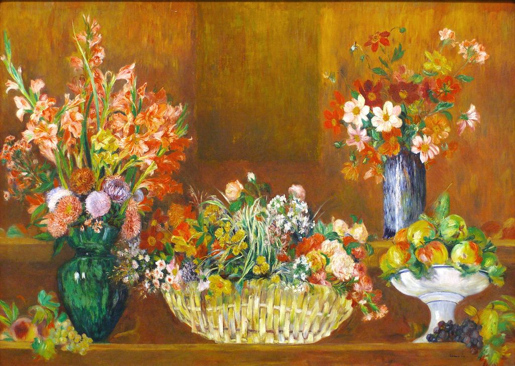 """Pierre-Auguste Renoir, """"Still Life with Flowers and Fruit"""", ~1890 