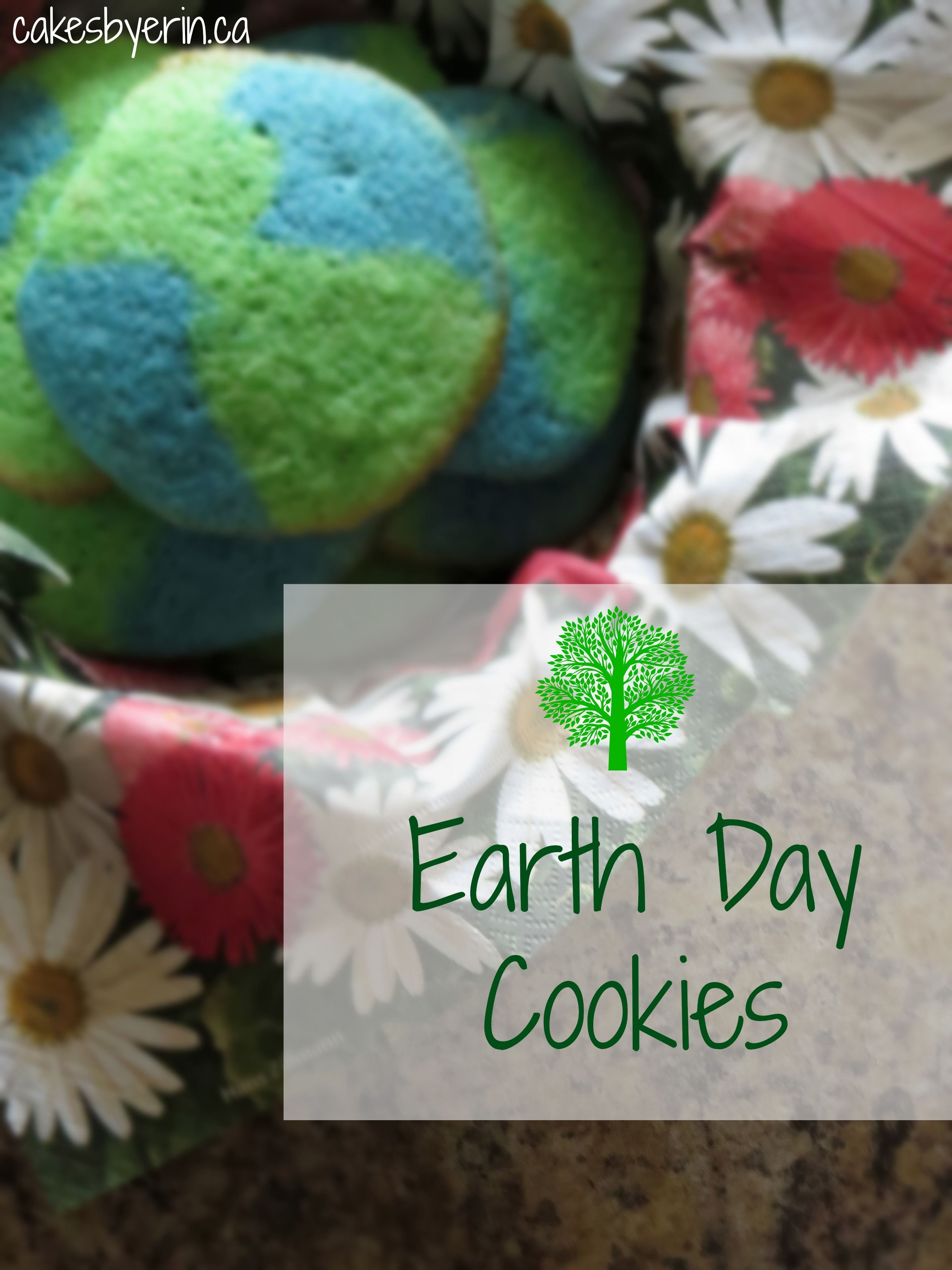 """Tomorrow is Earth Day! Try these """"world"""" cookies as a fun treat.  Earth Day Cookies!!"""