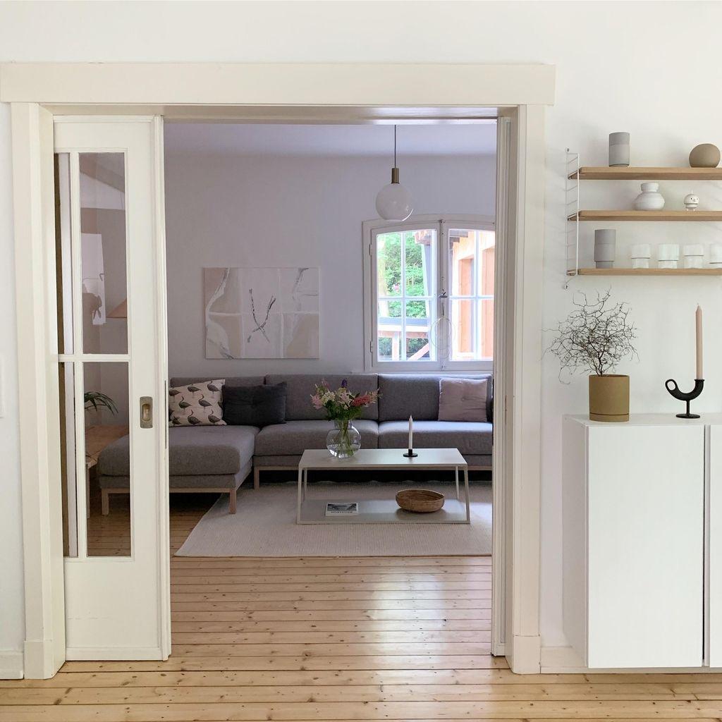 #wohnzimmer #nordicliving #sofa #regal | Wohnung esszimmer ...