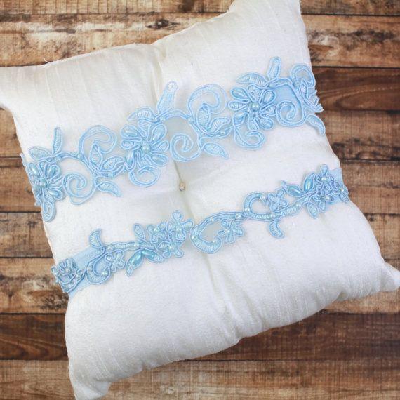 Something Blue, Light Blue Lace Wedding Garter Set, Light Blue Bridal Garter,Blue Toss Garter, Blue Wedding Garter Set