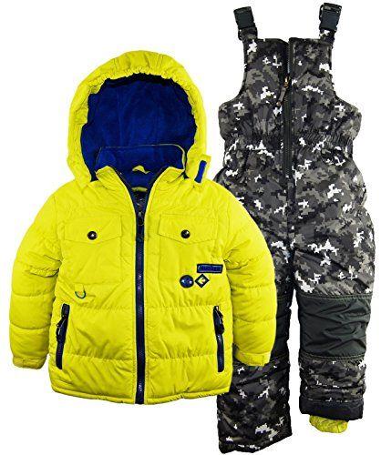 Rugged Bear Little Boys Solid Puffer Jacket Snowsuit Camo