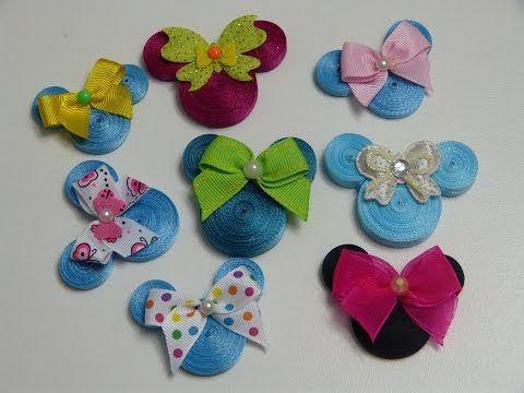 Glitter Mickey-Disney Niño Niña Vestido de cabezas de ratón de los niños para arriba Craft Botones