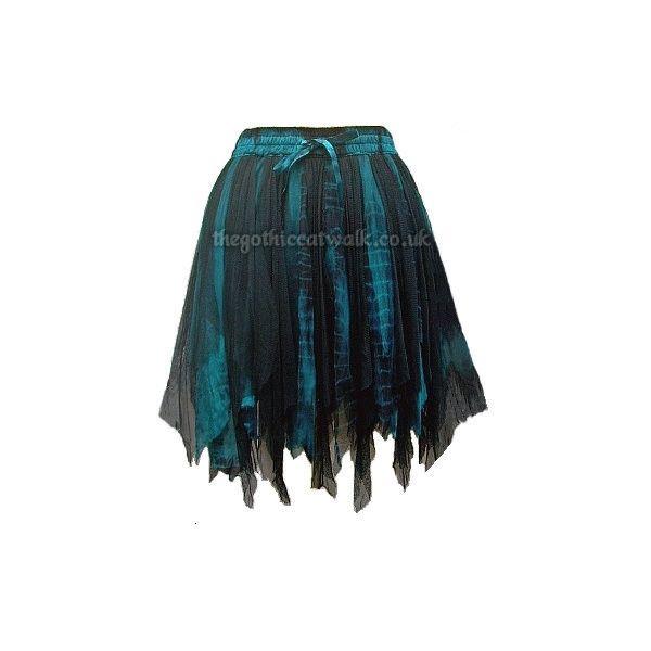 b4fae41c33 Black Turquoise Fairy Goth Tutu Skirt ❤ liked on Polyvore featuring skirts, tutu  skirts, black knee length skirt, turquoise tutu, black tutu skirt and ...