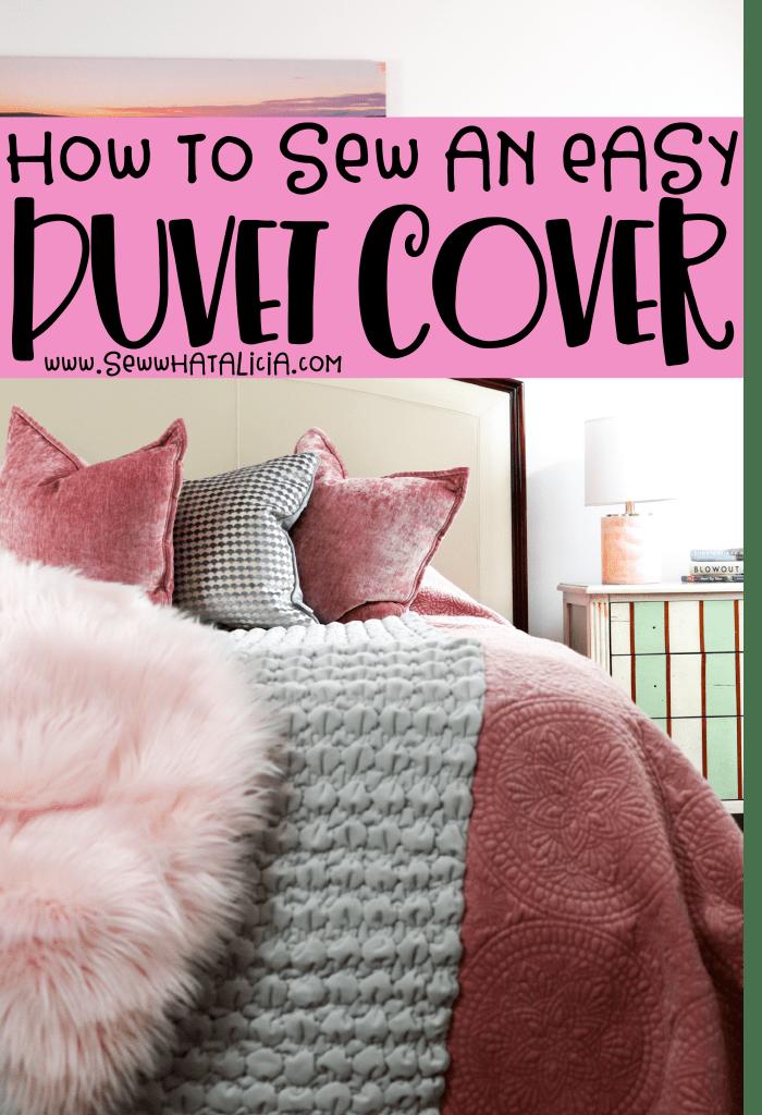 Sew An Easy Duvet Cover Diy Duvet Duvet Cover Diy Duvet Cover Pattern