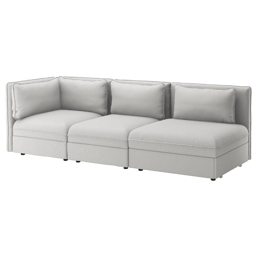 Ikea Vallentuna 3 Seat Modular Sleeper Sofa With Open End Orrsta Light Gray All Modules In The Vallentuna Ser In 2020 Modular Corner Sofa Modular Sofa Vallentuna