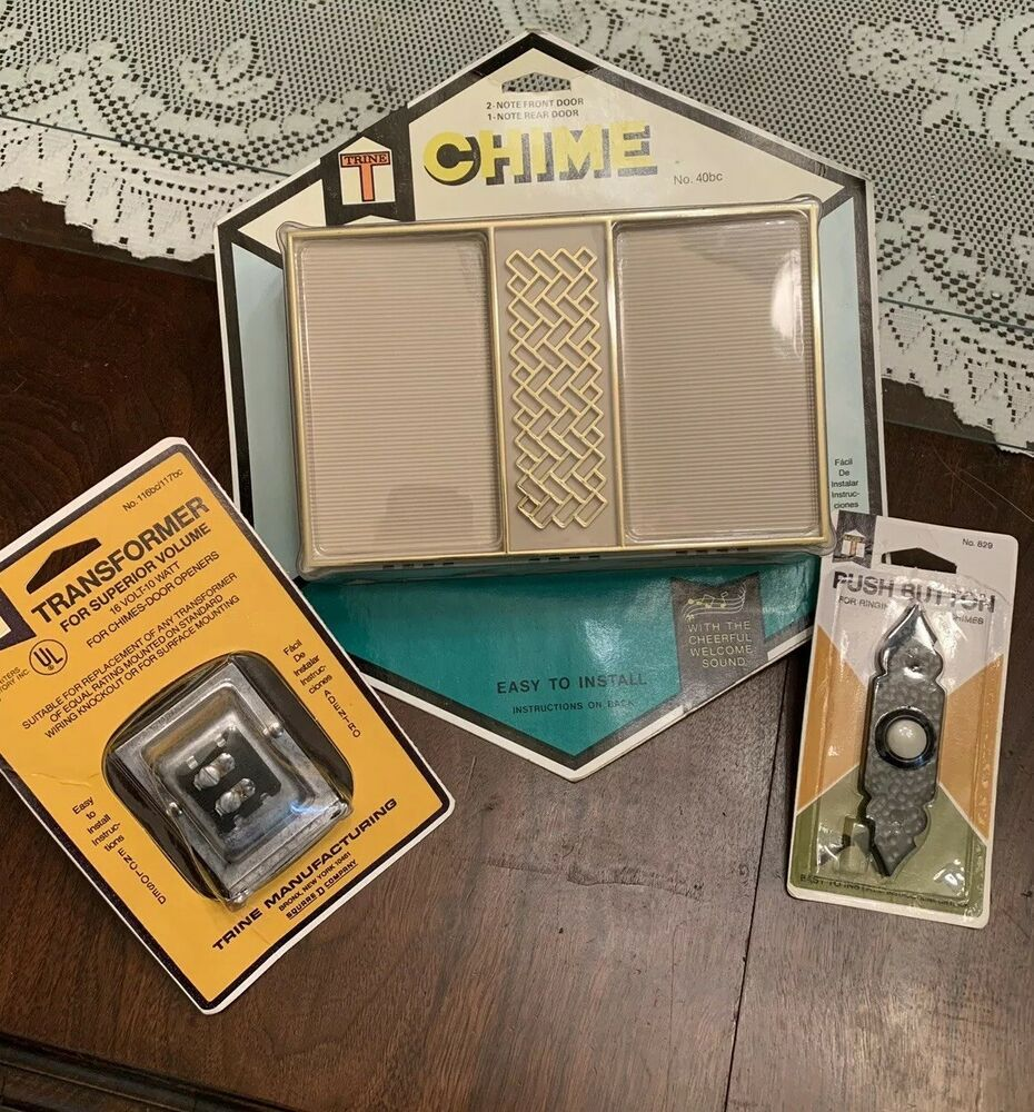 Trine Vintage Door Chime Bell New Nos Mechanical Box Kit Decorator Retro Mcm Trine Vintageretro Doorbell Chime Selling On Ebay Retro