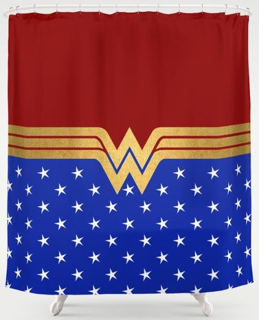 This Wonder Woman Shower Curtain Shower The Gold Wonder Woman Logo