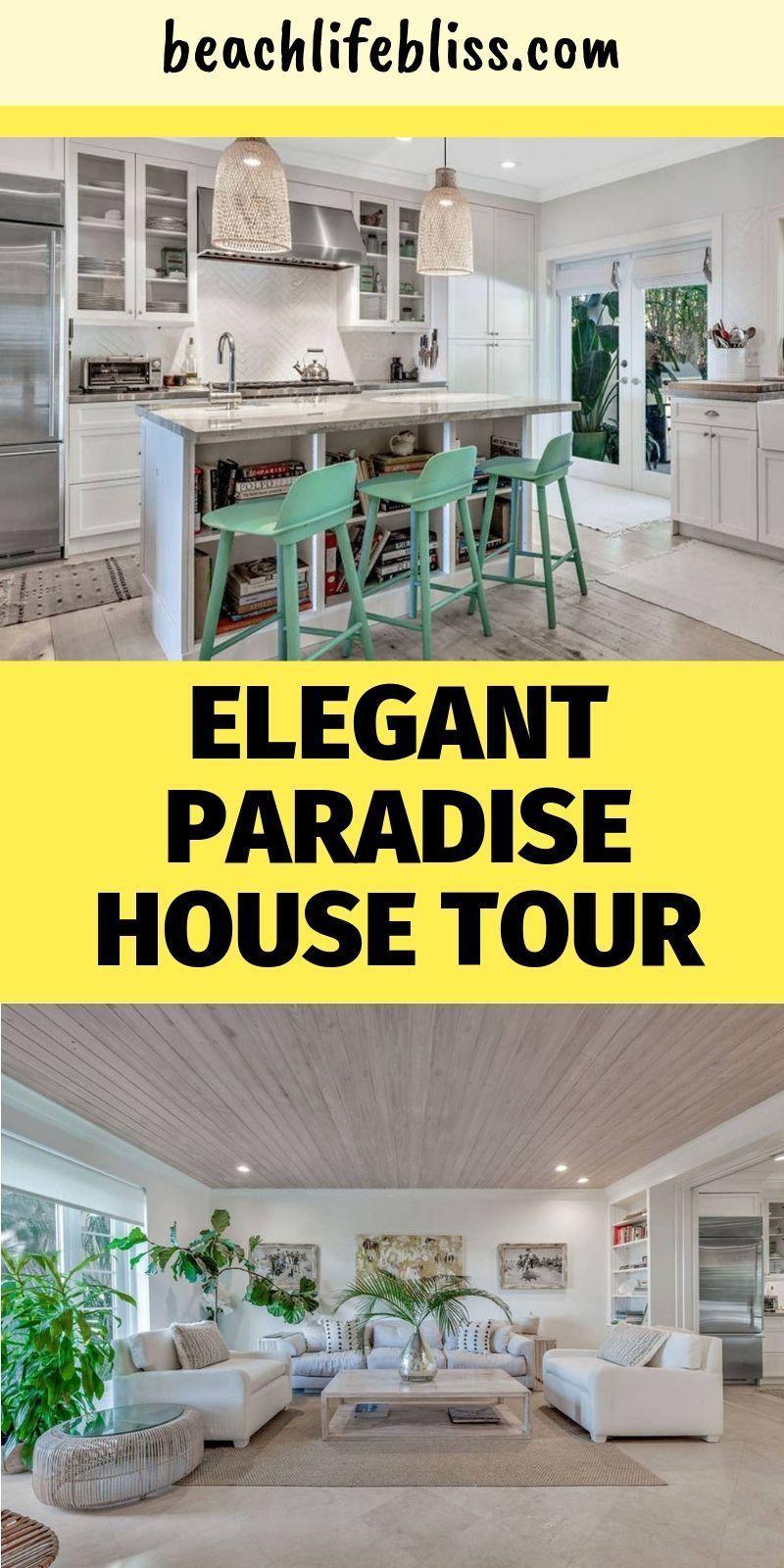 Elegant Home That Abounds With Beach House Decor Ideas: Bohemian Elegant Paradise Home Tour - Beach House Decorating Ideas